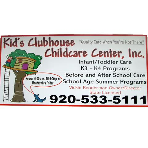 Kid's Clubhouse Childcare Center, Inc. - Child Care - Campbellsport, WI - Logo